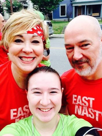 Family at 2014 Tomato: East Nasty proud at the 2014 Tomato 5K, with Joy and Emma Howard