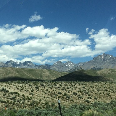 View on drive from Salt Lake City