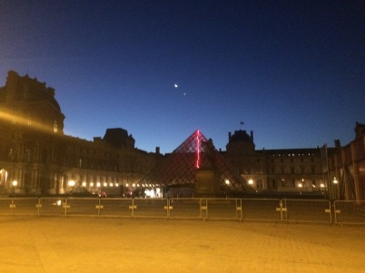 The Louvre at dawn